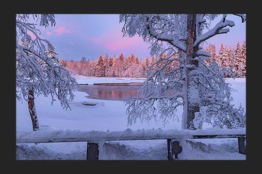 Sunset at Koitelinkoski