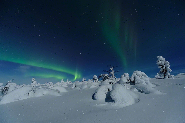 Silent auroras in Finnish Lapland