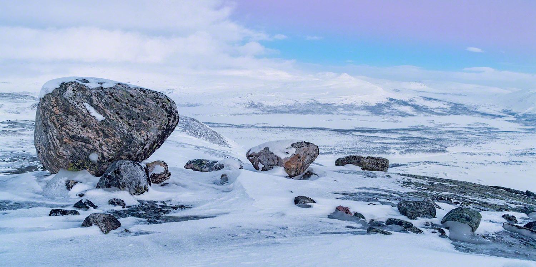 Rocks above Kilpisjärvi