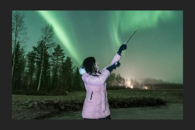 Aurora sympony near Oulu, Finland