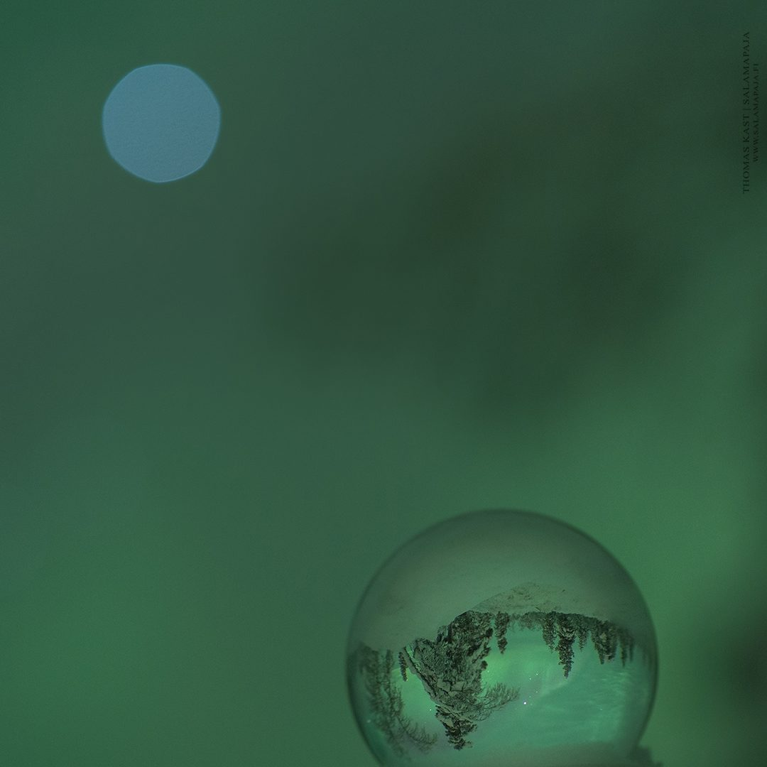 Blue Vega and green auroras