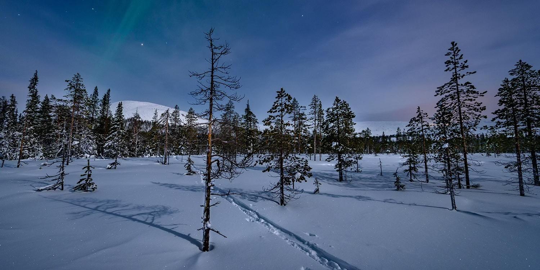 A winter night in Äkäslompolo