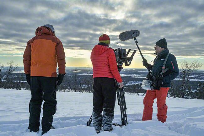 Winter filming.