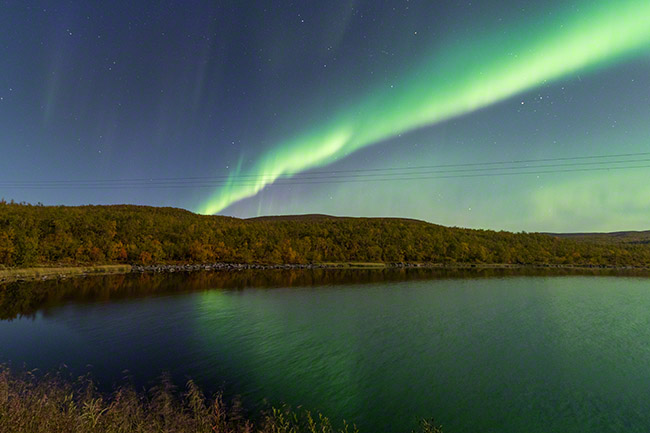 Just after 2am, aurora borealis stretches through the sky