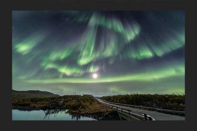 Aurora borealis moon madness