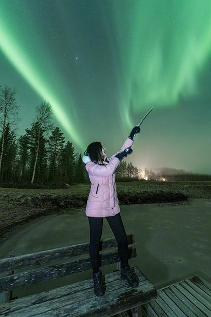 Aurora symphony near Oulu, Finland