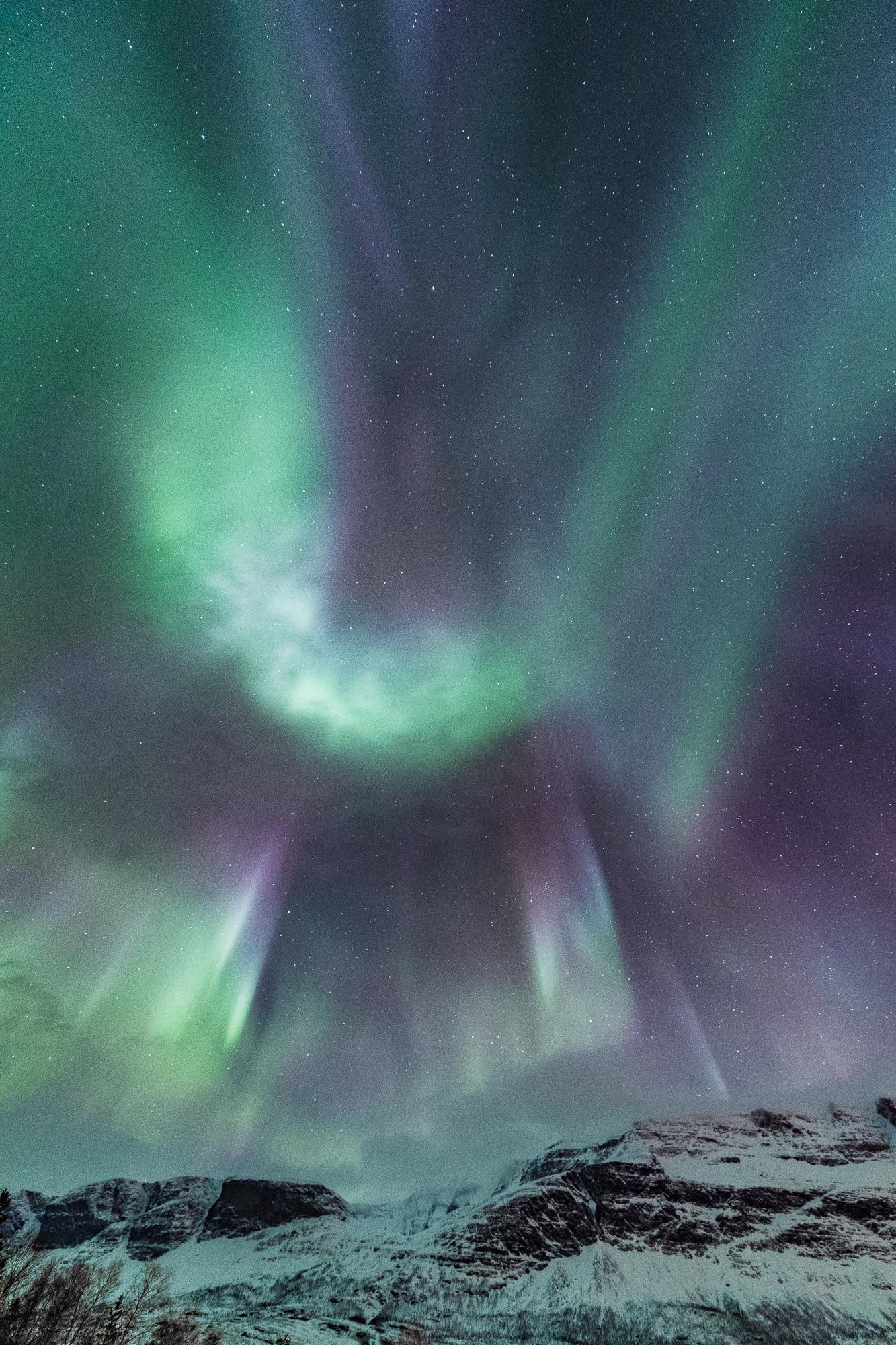 Aurora fireworks like New Year's Eve