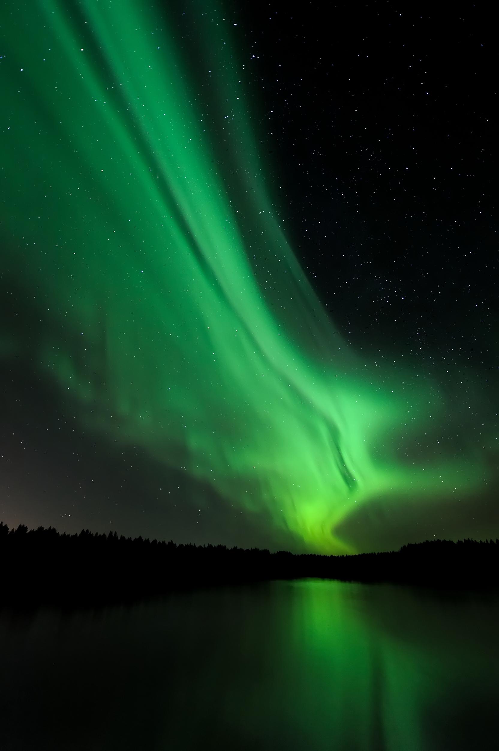 Polarlicht Basecamp September - Über See