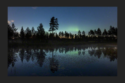 Aurora borealis late summer