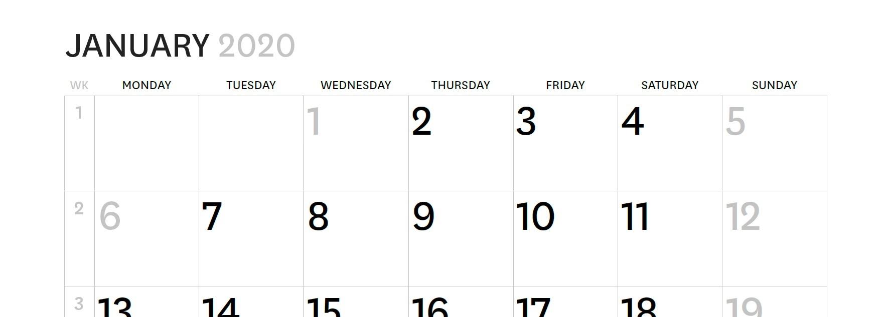Calendar part