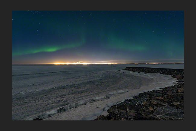 Last auroras of the season