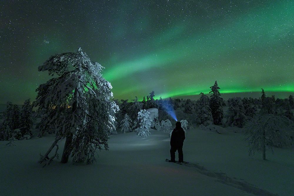 Standing under the aurora