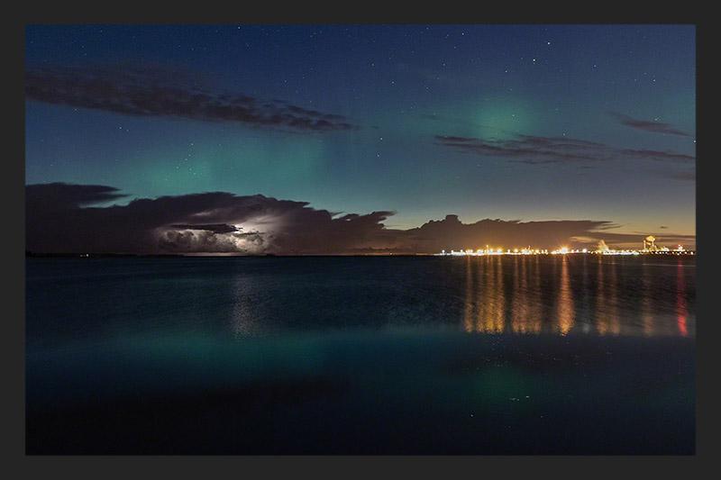 Auroras and lightning