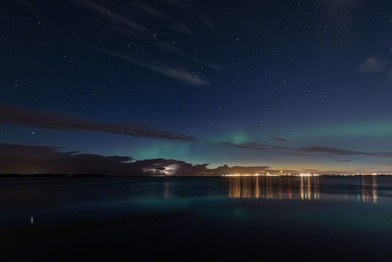 Auroras and lightning wide